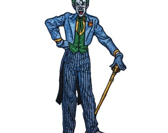 Classic Joker Clown Batman Rogue Gallery Villain DC Comic Iron-On Applique Patch