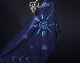 Women's Masonic Shawl, Lady's Masonic Scarf, Masonic Wrap, Felted Freemason' s Shawl, Unique Woman's Masonic gift, Handmade Masonic scarf