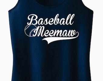 Baseball Meemaw Racerback Tank Top