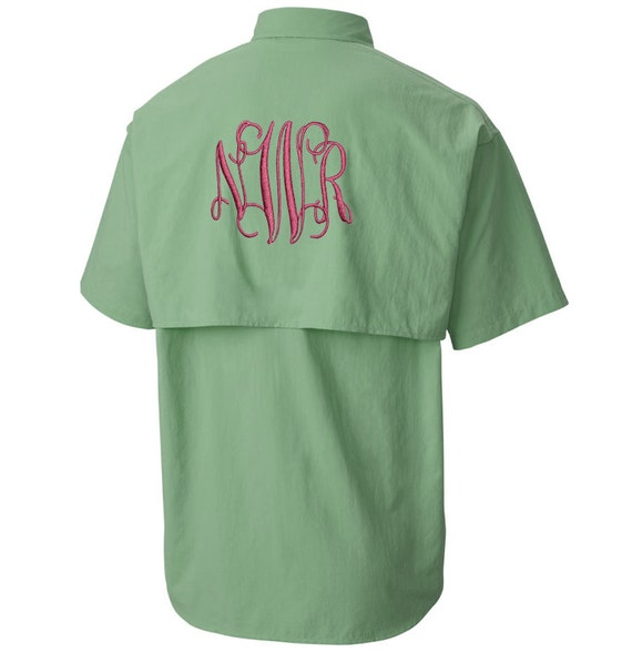 Monogram short sleeve fishing shirts monogram fishing shirts for Monogram fishing shirt