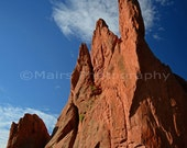 Spectacular Towering Rock Formations Garden of the Gods Travel Colorado, Fine Art Photography matted & signed 7x10 Original Photograph