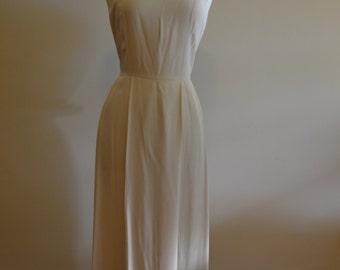 1980s does 1940s White Summer Dress