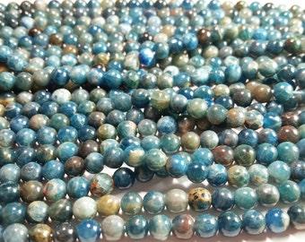 6mm Genuine Medium Blue Kyanite Round Ball Beads