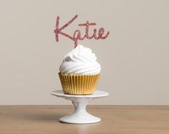 Personalised Mini Name Cake Cupcake Topper Food Pick