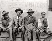 Vintate Photo African American Boys - Group of Young Black Negro Men - Waco TX - Civil Rights - Jim Crow Era
