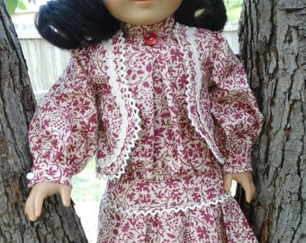 """18"""" Doll Clothes Historical Early 1900's Dress Fits American Girl Samantha, Rebecca"""