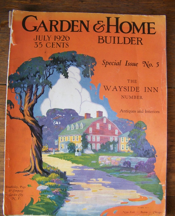 Vintage garden home builder magazine 1926 the wayside inn by for Home building magazines