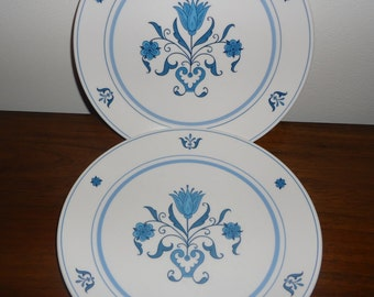 Vintage Noritake Blue Haven Dinner plates set of 2
