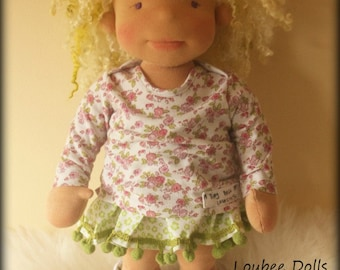 "Waldorf inspired doll called Pixie , 18"" doll"