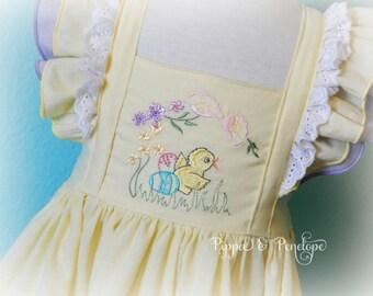 Easter Dress, Yellow Dress, Vintage Style Dress, Toddler Dress, Baby Easter Dress, Heirloom Dress, Girls Dresses, 12-18 Months