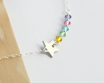 Shooting Star Necklace, Northern Lights Necklace