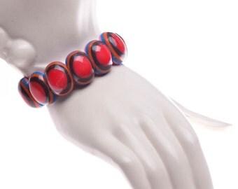 Mod Resin Stretch Bracelet French Designer Marion Godart