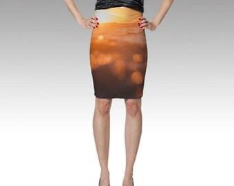 Ocean Sunset Skirt - Photo Skirt - Spanish Banks, Vancouver, BC