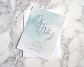 FLAT SAMPLE | Wedding Save the Date | Watercolor Save the Date | Wreath Save the Date | Modern Save the Date | Save the Date without photo