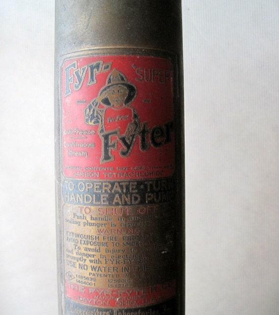 Fyr Fyter Extinguisher Antique Security Sistems