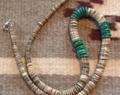 Vintage Native American Turquoise & Heishi Necklace
