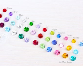 Add a Birthstone for Floating Lockets, Round and Heart Shaped Birthstones for Memory Locket, Floating Birthstone Charms