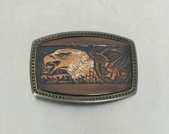 Eagle Belt Buckle - Vintage Leather Buckle - Biker Fashion
