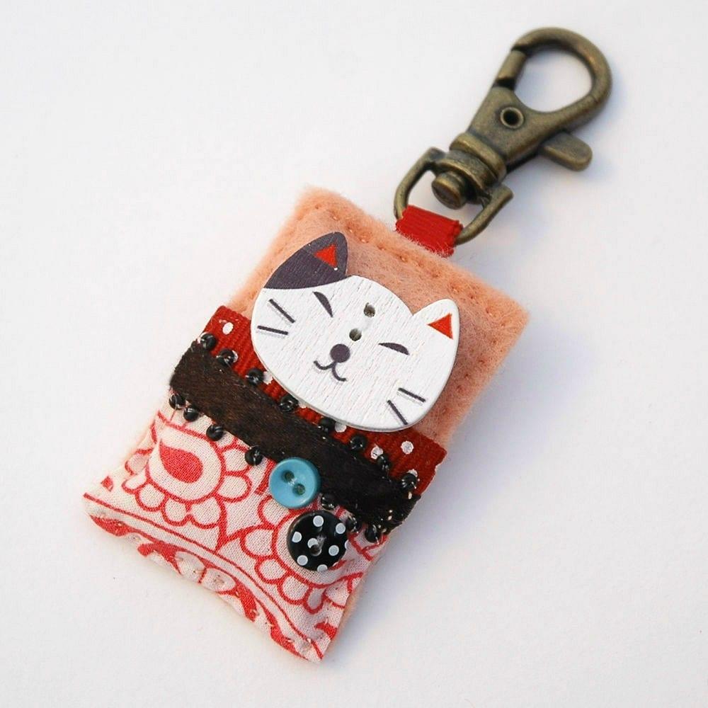 Kawaii bag charm Kawaii charm cat bag charm Kawaii cat