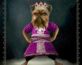 Custom Pet Dog / Cat  Portrait - Pet Lover Gift - Pet into a character portrait, pet art portrait 8X10