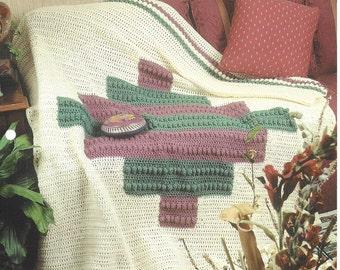 Southwest Afghan Crochet Blanket Pattern, Home Decor, Southwest Decor, Sofa Throw, Bedspread, Bedding, Annie's Crochet Quilt