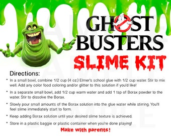 Ghostbusters Inspired Boys Birthday Party Slime Kit LABELS -Printable File