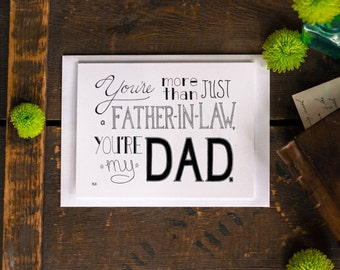 Father In Law Card, Father's Day Card, Awesome Father-In-Law Card, Greeting Card, Dad In Law Card, Blank Card