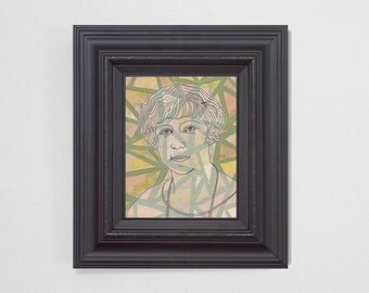"8x10"" Original Fine Art Painting. ""Ghosts"" Series (5/6) : ""Alma"" Mixed Media."