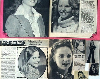 MELISSA SUE ANDERSON ~ Little House On The Prairie, Happy Birthday To Me, Veronica Mars ~ B&W Clippings, Articles, Pin-Ups from 1976-1981