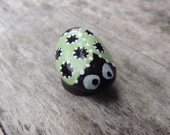 Hand Painted Rock painted as a Ladybug and Made into Magnet