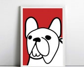 home decor wall art for dog lovers, french bulldog art, Minimalist poster, dog poster, Kids Room poster, Nursery Art, by nicemiceforyou