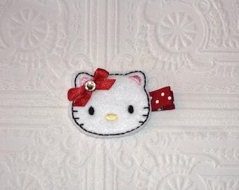 Kitty Hair Clip - Kitty Cat Clip - Kitty Barrette - Cat Barrette - Hair Accessory - Baby Hair Clip - Toddler Hair Clip - Barrettes And Clips
