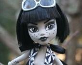 Custom Frankenstein Monster Doll - OOAK High School Ghoul