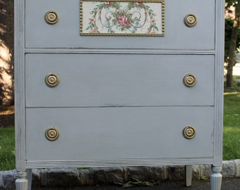 Antique Dresser in Monet Grey