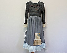 Women's Recycled Clothing / Upcycled Ladies Dress / Unique Eco Clothes