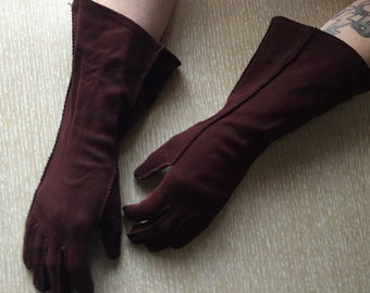 Vintage Chocolate Brown Gloves by Wear Right, 6 1/2