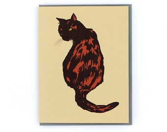 Tortoise Shell Cat Stationery Note Greeting Card