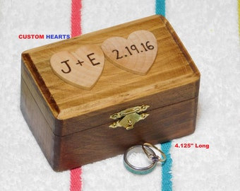 ... , Initials a Date Personalize Inscription, Gift Card Box, Wood burn