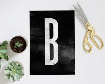 Giant Letter Art Print - Type Home Decor - Big Letter Print - Scandi Style Art