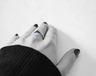 Silver Ring with colored pencil SIZE 7.25