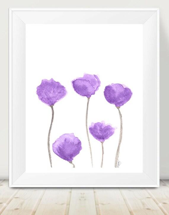 Purple Tulip Print, 11x14 Watercolor
