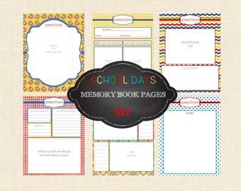 School Memory Book Journal Pages | School Organizer | School Years | School Journal | School Yearbook | School Binder | DIGITAL FILE