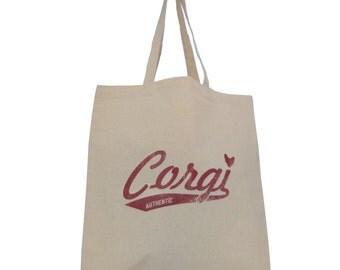 """Corgi Tote Bag - Retro """"Team Corgi"""" design"""