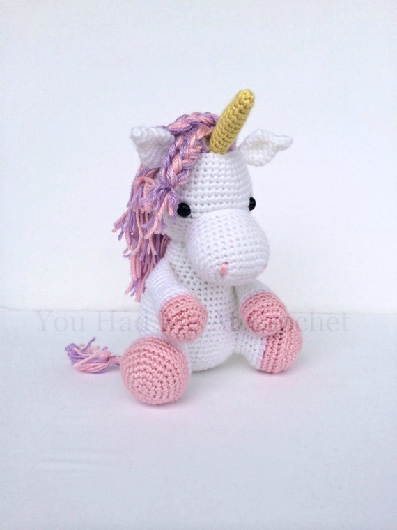 Items Similar To Crochet Unicorn Horse Stuffed Animal In