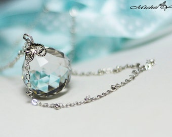 Sailor Moon Silver  Illusion Crystal Necklace - 20mm