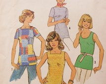 Knit Top Sewing Pattern Simplicity 7534 UNCUT Plus Size Pattern for Petites
