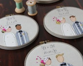 Bride and Groom Embroidery Hoop / Personalized Wedding Gift / Wedding Embroidery by The Penny Runner