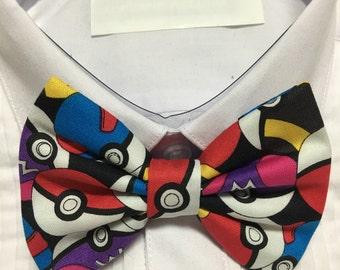 Pocket Monster Electric type Print Bowtie / Bow Tie