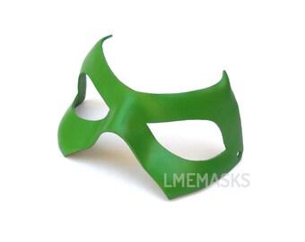 Leather Mask Green Arrow Comic Robin Half Mask Super Hero Cosplay Halloween Masquerade Carnival Party Superheroe Men Oliver Queen Costume