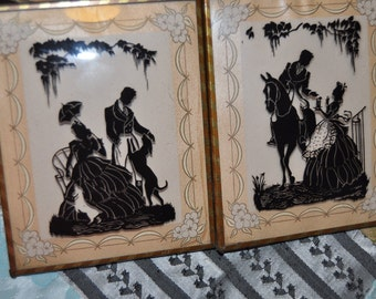 Pair of Vintage Silhouette Pictures